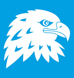 Eagle icon white vector