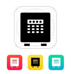 Electronic safe icon vector image