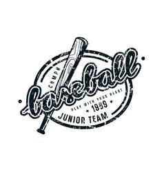 Emblem of baseball junior team vector