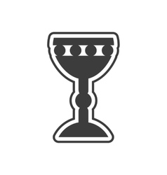 Flat icon in black and white style Holy Grail vector