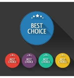 Flat sale discount Best Choice labels with long vector