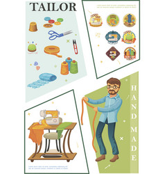 Flat tailoring composition vector