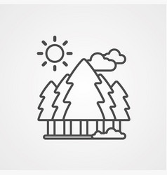 forest icon sign symbol vector image