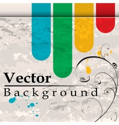 Grunge background with bend vector image
