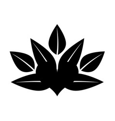 Heart with leafs emblem vector