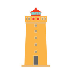 icelandic lighthouse icon vector image