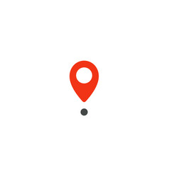 Location pin icon red pointer simple flat point vector