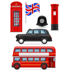 London set icons vector