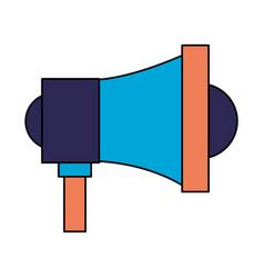 megaphone speaker on white background vector image