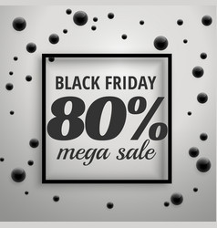 Modern black friday offer sale poster with black vector