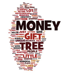 Money tree text background word cloud concept vector