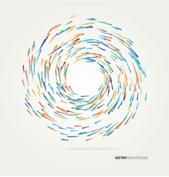 multicolored lines in a circle vector image
