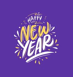new year lettering crad vector image