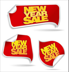 New year sale price tag vector
