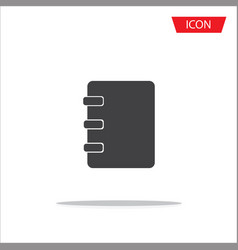 notebook icon address book icon isolated on vector image