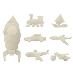 origami logistic paper transport concept original vector image