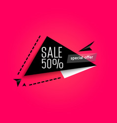 origami paper pieces super sale vector image