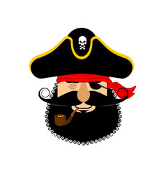 Pirate sleeping emoji head filibuster asleep vector