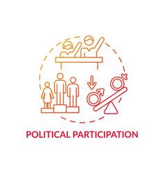Political participation concept icon vector