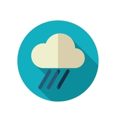 Rain Cloud flat icon Downpour rainfall Weather vector image