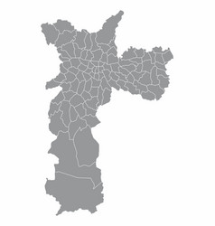sao paulo city gray map vector image