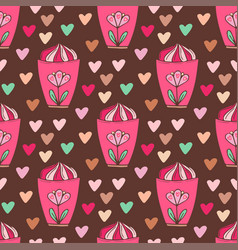 Seamless pattern with ice creams bright wrapping vector