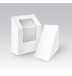 Set of Cardboard Boxes For Food Gift with Window vector