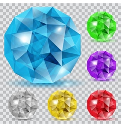 Set of translucent gems vector