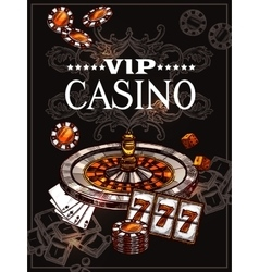 Sketch Casino Poster vector