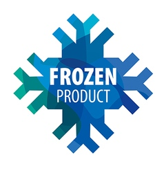 Snowflake logo for frozen products vector