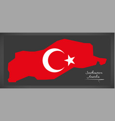 Southeastern anatolia turkey map vector