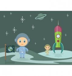 space men vector image