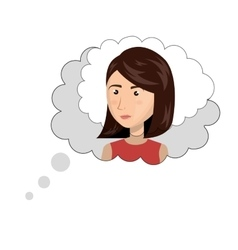 Speech bubble think vector