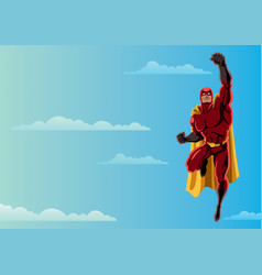 Superhero flying 2 sky vector