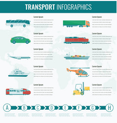 Transportation icons set city cars and vehicles vector