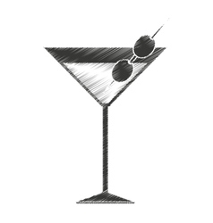 tropical cocktail fresh isolated icon vector image