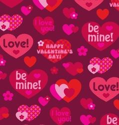 valentine hearts background pattern vector image