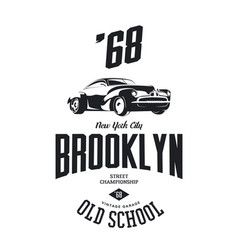Vintage vehicle tee-shirt logo vector