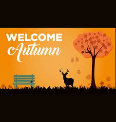 welcome autumn vector image