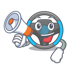 with megaphone steering wheel isolated in the vector image
