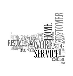Work at home customer service text word cloud vector