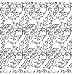 Autumn seamless leaf pattern 1 vector image