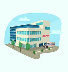 isometric building of clinic or hospital vector image