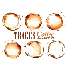 Set Traces Coffee vector image