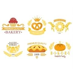 Vintage Bakery Labels vector image