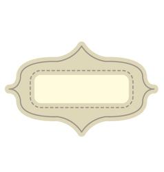 Vintage tag vector image