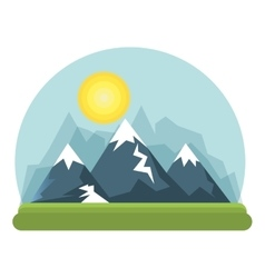 beautiful landscape background icon vector image vector image