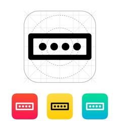 Password form icon vector image
