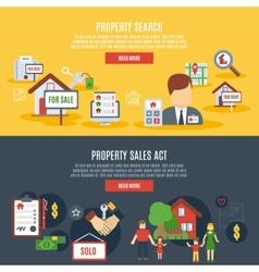 Real Estate Banner vector image