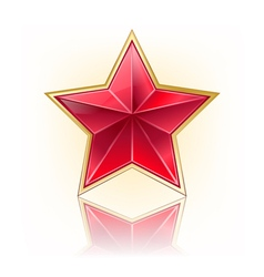 red five star vector image